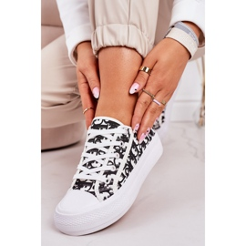 PS1 Daphne Women's Logged Sneakers White and Black 1