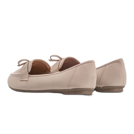 Lena beige suede loafers 1