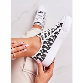PS1 Daphne Women's Logged Sneakers White and Black 2