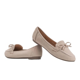 Lena beige suede loafers 3