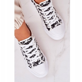 PS1 Daphne Women's Logged Sneakers White and Black 4