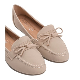 Lena beige suede loafers 5