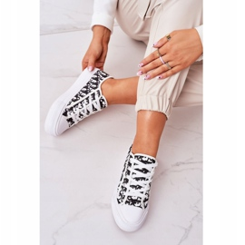 PS1 Daphne Women's Logged Sneakers White and Black 5