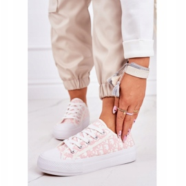 PS1 Daphne Women's Logged Sneakers White and Pink 1