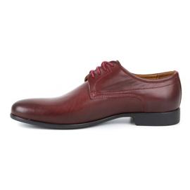 Kampol Men's formal shoes 334/34 burgundy red 1
