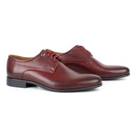 Kampol Men's formal shoes 334/34 burgundy red 2
