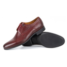 Kampol Men's formal shoes 334/34 burgundy red 3