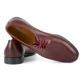 Kampol Men's formal shoes 334/34 burgundy red 4