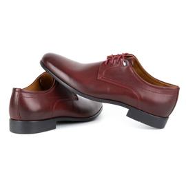 Kampol Men's formal shoes 334/34 burgundy red 5