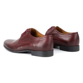Kampol Men's formal shoes 334/34 burgundy red 6