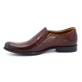 Kampol Men's formal slip-on shoes 343/17 burgundy red 1