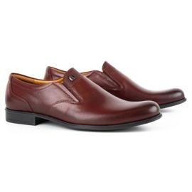 Kampol Men's formal slip-on shoes 343/17 burgundy red 2