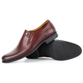 Kampol Men's formal slip-on shoes 343/17 burgundy red 3
