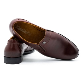 Kampol Men's formal slip-on shoes 343/17 burgundy red 4