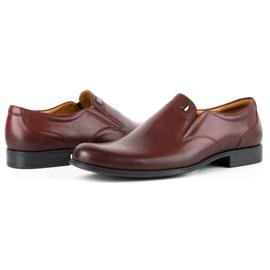 Kampol Men's formal slip-on shoes 343/17 burgundy red 5