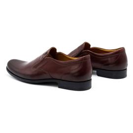 Kampol Men's formal slip-on shoes 343/17 burgundy red 6