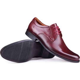 Kampol Men's formal shoes 344/17 / D3 burgundy red 1