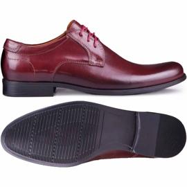 Kampol Men's formal shoes 344/17 / D3 burgundy red 2