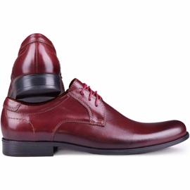 Kampol Men's formal shoes 344/17 / D3 burgundy red 3