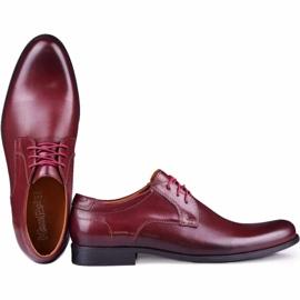 Kampol Men's formal shoes 344/17 / D3 burgundy red 4