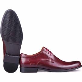 Kampol Men's formal shoes 344/17 / D3 burgundy red 5