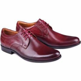 Kampol Men's formal shoes 344/17 / D3 burgundy red 6