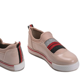 Jayde lacquered beige trainers 3