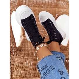FB2 Women's High Sneakers On A Large Sole Black Trissy 5