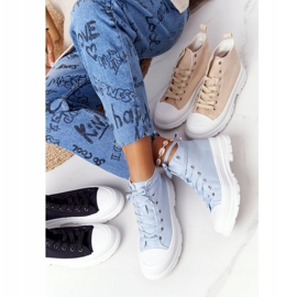 FB2 Women's High Sneakers On A Large Sole Blue Trissy 1