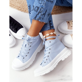 FB2 Women's High Sneakers On A Large Sole Blue Trissy 2