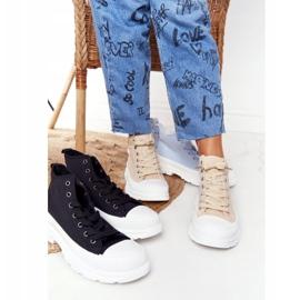 FB2 Women's High Sneakers Beige Trissy On A Large Sole 5