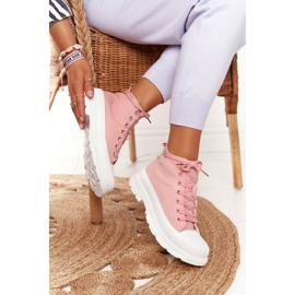FB2 Women's High Sneakers On A Large Sole Pink Trissy 1