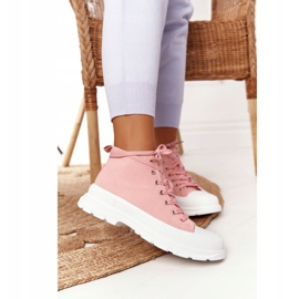 FB2 Women's High Sneakers On A Large Sole Pink Trissy 2