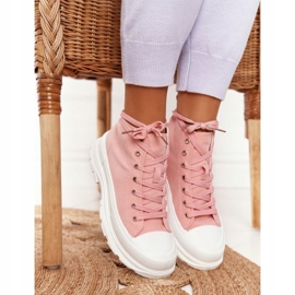 FB2 Women's High Sneakers On A Large Sole Pink Trissy 3