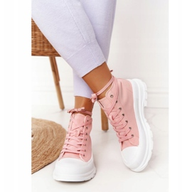 FB2 Women's High Sneakers On A Large Sole Pink Trissy 4