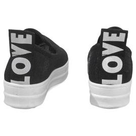 Love Slip On SK73 Black Slip-On Sneakers 4