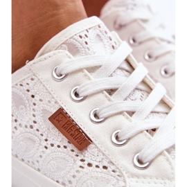Women's Lace Sneakers Big Star W274925 White 11