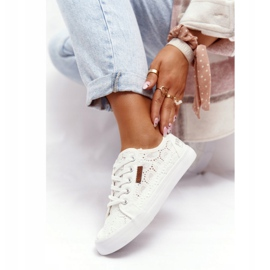 Women's Lace Sneakers Big Star W274925 White 10