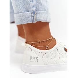 Women's Lace Sneakers Big Star W274925 White 13