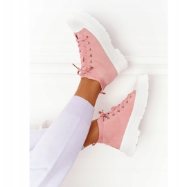 FB2 Women's High Sneakers On A Large Sole Pink Trissy 5