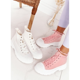 FB2 Women's High Sneakers On A Large Sole Pink Trissy 6