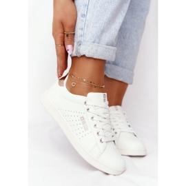 Women's Leather Sneakers Big Star DD274583 White-Copper golden 5