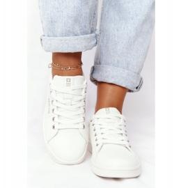 Women's Leather Sneakers Big Star DD274583 White-Copper golden 7