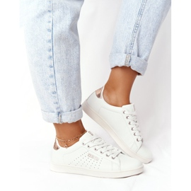 Women's Leather Sneakers Big Star DD274583 White-Copper golden 1