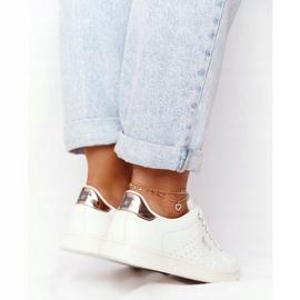 Women's Leather Sneakers Big Star DD274583 White-Copper golden 3