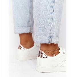 Women's Leather Sneakers Big Star DD274583 White-Copper golden 4
