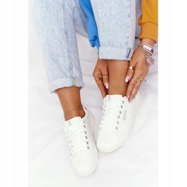 Women's Leather Sneakers Big Star DD274583 White-Copper golden 6