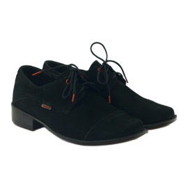 Zarro Black shoes communion suede leather red 4