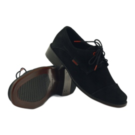 Zarro Black shoes communion suede leather red 3