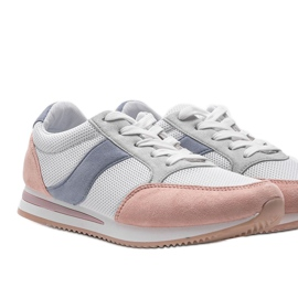 Classic white sneakers with Aniya pink 3